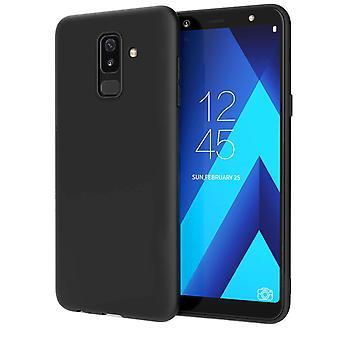 Samsung Galaxy A6 Plus (2018) Matte TPU Gel - schwarz