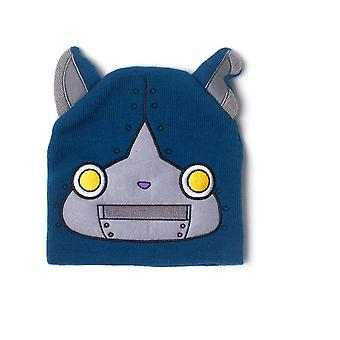 Yo-Kai Watch Robonyan Novelty Cuffless Beanie with Ears Blue (KC302488YKW)