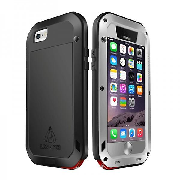 Love MEI Outdoor Metal Bumper for Apple iPhone 6 4.7 Cases Silver