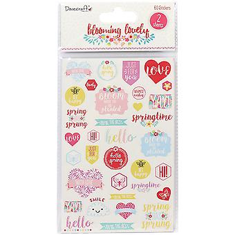 Dovecraft Blooming Lovely Stickers-Sentiments