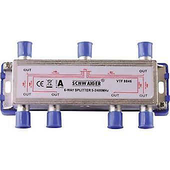 Schwaiger VTF8846 SAT splitter 6 voies 5 - 2400 MHz
