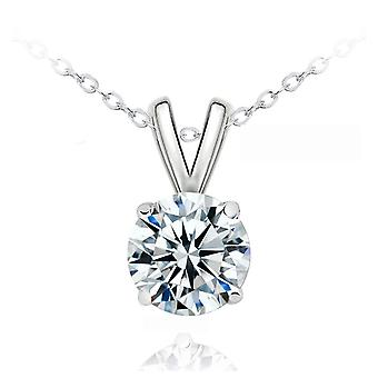 SILVER EXQUISITE CRYSTAL NECKLACE