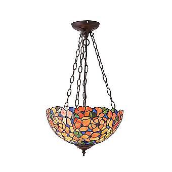Interiör 1900 Josette Tiffany 3 ljus Uplighter tak hänge