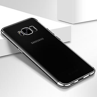 Handy Hülle Schutz Case für Samsung Galaxy S7 Durchsichtig Transparent Silber
