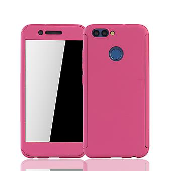 Huawei Nova 2-caso proteção-gabinete completo tampa tanque proteção vidro rosa