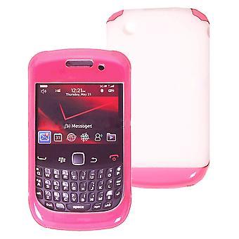 OEM Verizon Double Cover Case for BlackBerry Curve 3G 9330 (Pink / White) (Bulk Packaging)