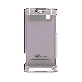 Trådlösa lösningar gummi snap-on Case för Motorola A555 Calgary/A555 Devour Droid-rök