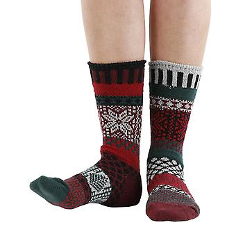 Poinsettia recycled cotton multicolour odd-socks | Crafted by Solmate