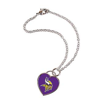 Wincraft ladies 3D heart bracelet - NFL-Minnesota Vikings
