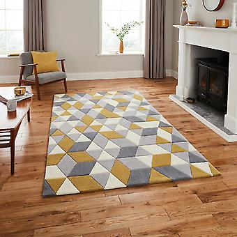 Hong Kong tapijten Hk3653 In geel grijs
