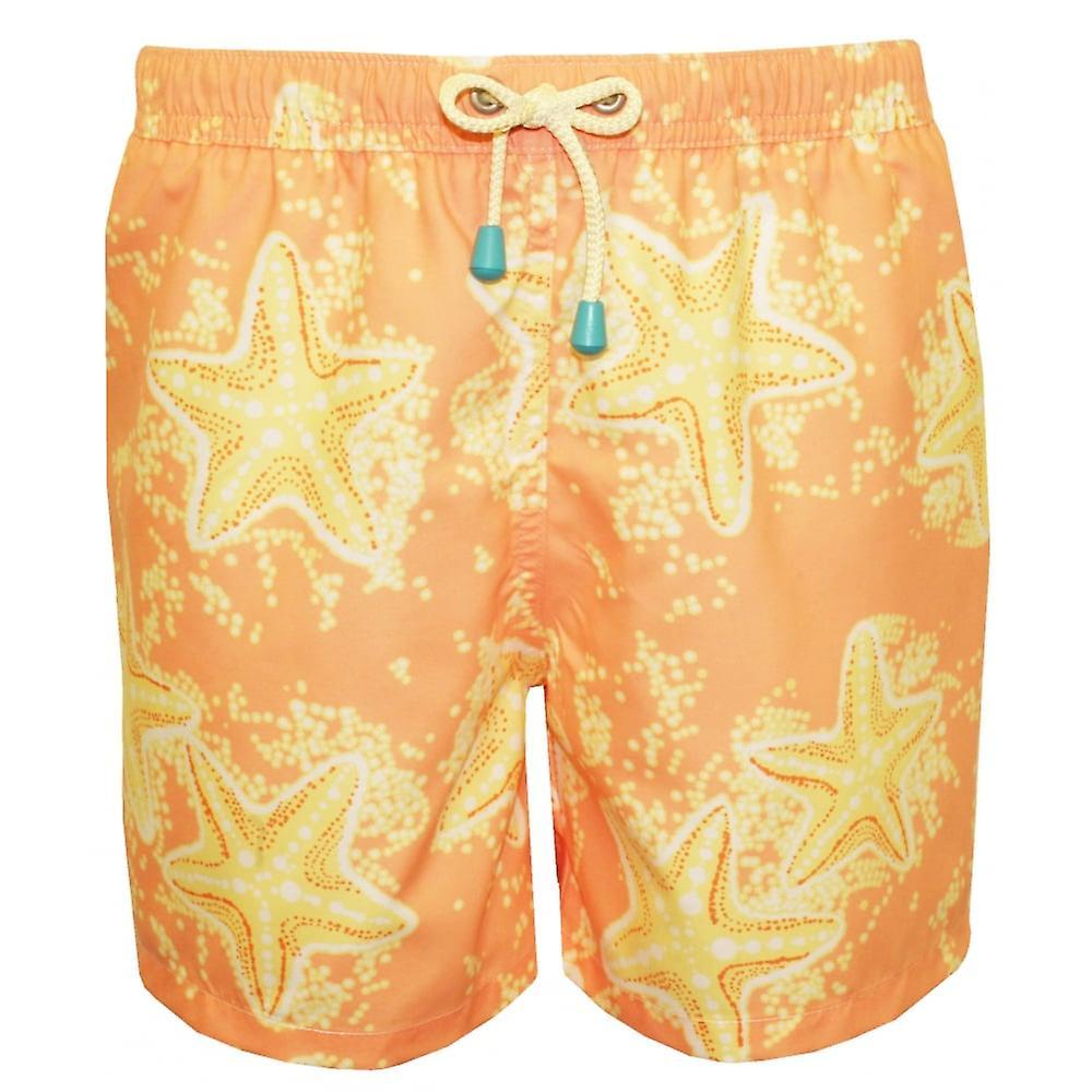 Graisseur & chaudière Old Skool Starfish imprimer Swim courtes, Peach citron