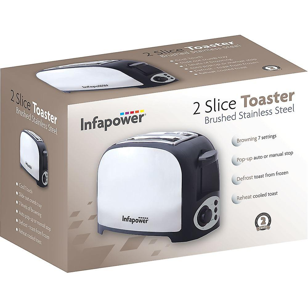 Infapower X553 2 Slice Toaster - Stainless Steel