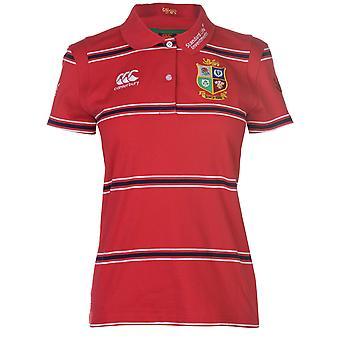 Canterbury Womens British And Irish Lions Rugby Polo Shirt Tee Top Cotton Stripe