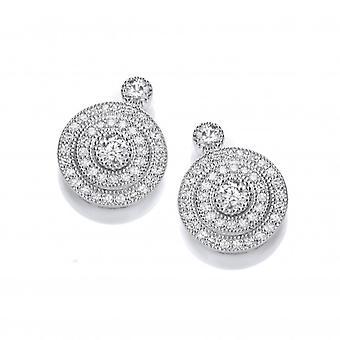 Cavendish franska eleganta Silver och Cubic Zirconia kvällen örhängen