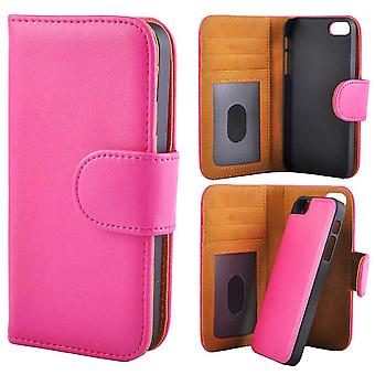 Wallet case with Removable Magnetic Shell iPhone 5/5s/SEE Pink