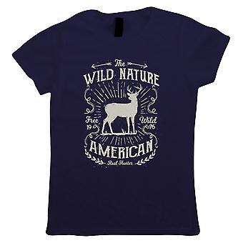 Wild Nature American Hunter, Womens T Shirt