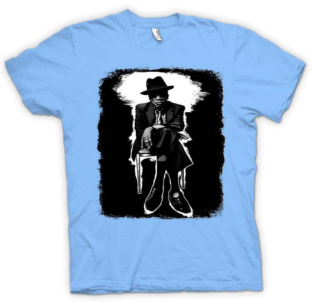 Herr T-shirt-John Lee Hooker Blues - BW - Pop Art