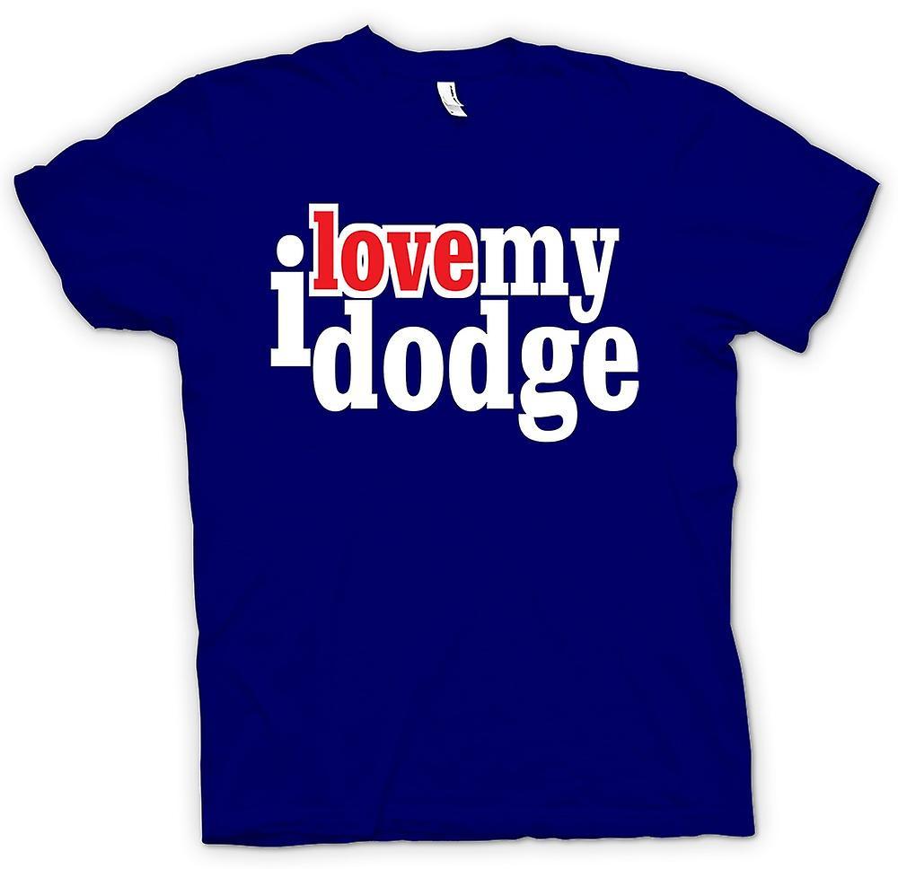 Mens t-skjorte - jeg elsker min Dodge - bilentusiast