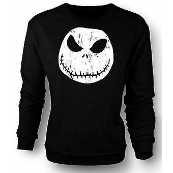 Kids Sweatshirt Scary Halloween Pumpkin - Smiley Face