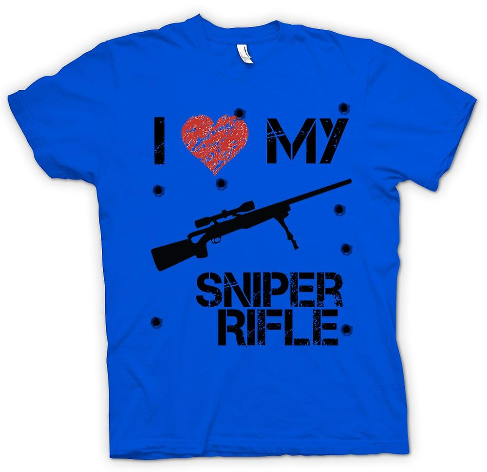 Mens T-shirt - I Love My Sniper Rifle