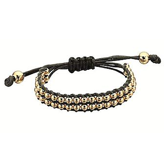 Fiorelli Kahki Cord with Goldtone Beads Bracelet