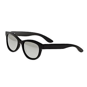 Bertha Carly Buffalo-Horn Polarized Sunglasses - Black/Silver