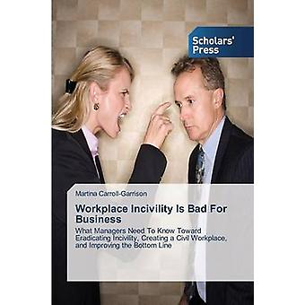 Workplace Incivility Is Bad For Business by CarrollGarrison Martina