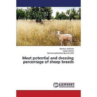 إمكانات اللحوم وخلع الملابس النسبة المئوية لسلالات الأغنام بشمس الرحمن