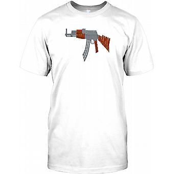 AK47 Word Cloud AKAKAK - Cool Weaponry Mens T Shirt