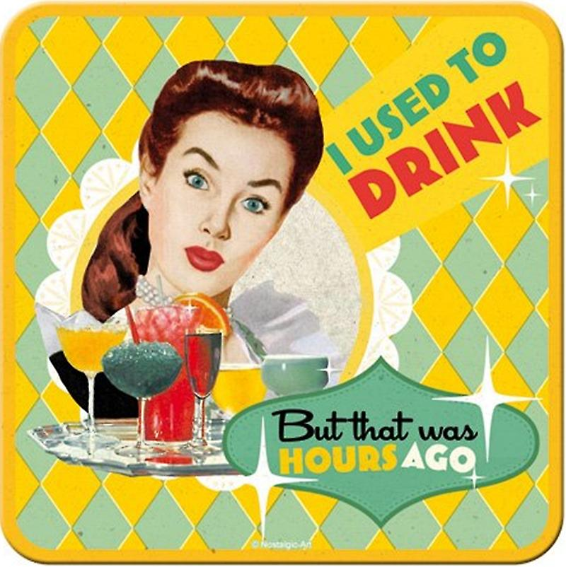 I Used To Drink... funny drinks mat / coaster   (na)