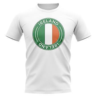 Ireland Football Badge T-Shirt (White)