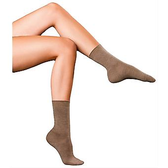 Falke Finest No1 Cashmere Socks - Nutmeg Brown Melange