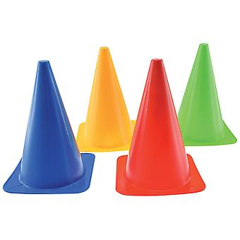 Gowi Toys Children's Colourful Road Cones Set (Pack of 4) Road Safety Play
