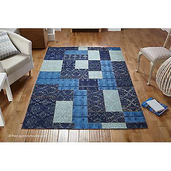 Patchy Blue Rug