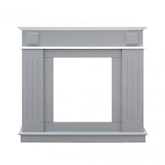 Rebecca Furniture Frame Faux fireplace Mdf modern white light grey