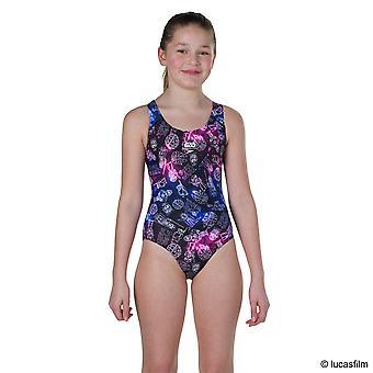 Speedo Star Wars Character Constellation Allover Splashback Swimwear For Girls