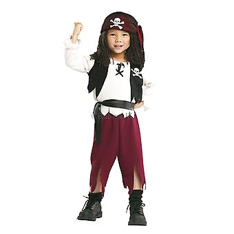 Pirate Captain Cutthroat Swashbuckler Carribean Buccaneer Toddler Boys Costume T