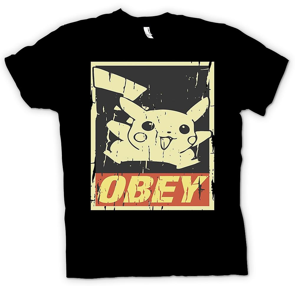 Mens T-shirt-Pikachu obéir - Cool Pokemon inspiré