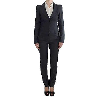 Exte Gray One Button Two Piece Suit -- SIG3876229