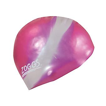 Zoggs Swimming Cap Flexible Construction Multicolour in Pink/Silver - One Size