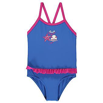 Speedo Girls Frill Swimsuit Infant Kids