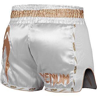 Venum Giant Muay Thai Shorts - White/Gold