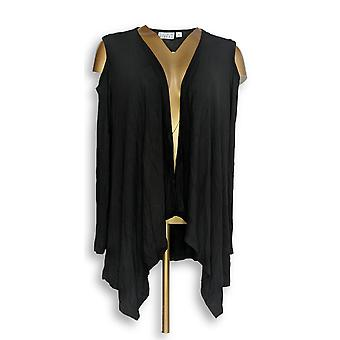 Joan Rivers Classics Collection Women's Top Draped Cardigan Black A306705