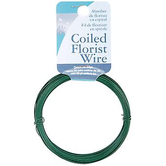 Coil Wire & Twine 24 Gauge 50Ft Pkg Green 602450
