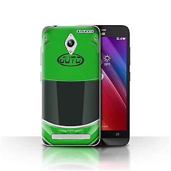 STUFF4 Case/Cover for Asus Zenfone Go ZC500TG/Superbike/Green/Motorcycle Helmet