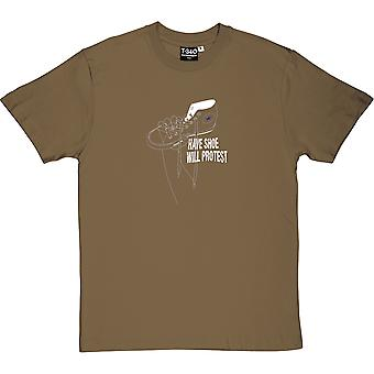 Have Shoe Will Protest Men's T-Shirt