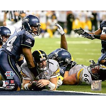 Ben Roethlisberger Super Bowl XL 2006 Action Photo Print