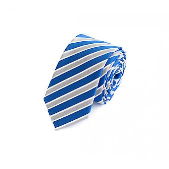 Fabio Farini sprotlich, athletic 6 cm tie, for every occasion in fresh blue with grey-white stripes