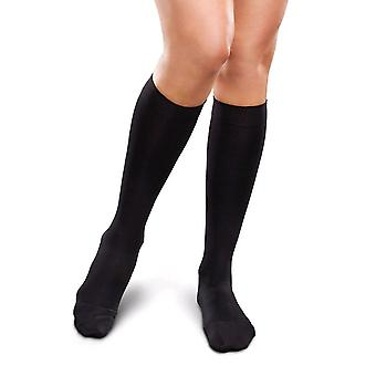 Therafirm Ease Short Length Ladies Opaque Support Knee Highs [Style AE10] Black  S