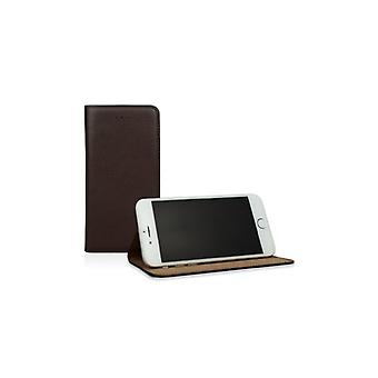 Caseual Läderslim For iPhone 6/6S Of Premium leather-BROWN